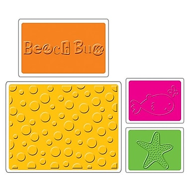 Sizzix® Textured Impressions Embossing Folder, Summer Set