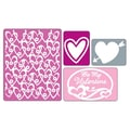 Sizzix® Textured Impressions Embossing Folder, Valentine Set #2