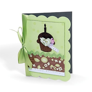 Sizzix® Movers & Shapers Pro Die Set, Card/A6 Scallop & Cupcake