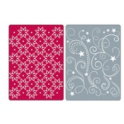 Sizzix® Textured Impressions Embossing Folder, Flowers, Stars and Swirls Set