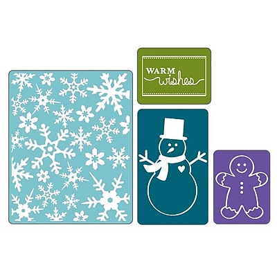 Sizzix Textured Impressions Embossing Folder, Christmas Set #3 224432