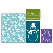 Sizzix® Textured Impressions Embossing Folder, Christmas Set #3