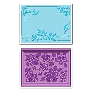 Sizzix® Textured Impressions Embossing Folder, Birds, Flowers and Branches Set