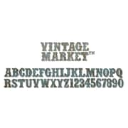 Sizzix® Sizzlits Decorative Strip Alphabet Die, Vintage Market