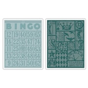 Sizzix® Texture Fades Embossing Folder, Bingo and Patchwork Set