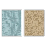 Sizzix® Texture Fades Embossing Folder, Burlap and Swirls Set