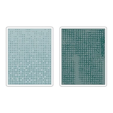 Sizzix® Texture Fades Embossing Folder, Dot-Matrix and Gridlock Set
