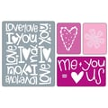 Sizzix® Textured Impressions Embossing Folder, Love Set #2