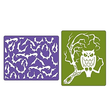Sizzix® Textured Impressions Embossing Folder, Bats & Owl Set