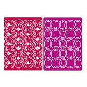 Sizzix® Textured Impressions Embossing Folder, Flower Vine & Twizzle Set