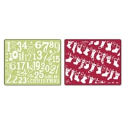 Sizzix® Textured Impressions Embossing Folder, Christmas Stockings Set