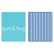Sizzix® Textured Impressions Embossing Folder, Flourish, Dots and Ribbon Set