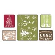Sizzix® Textured Impressions Embossing Folder, Sending Christmas Love Set