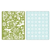 Sizzix® Textured Impressions Embossing Folder, Dearly & Frost Set