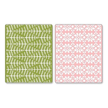 Sizzix® Textured Impressions Embossing Folder, Evergreen & Snow Flowers Set