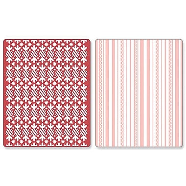 Sizzix® Textured Impressions Embossing Folder, Peppermint Twists & Scallops Set