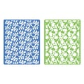 Sizzix® Textured Impressions Embossing Folder, Country & Flowering Foliage Set