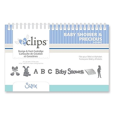 Sizzix® eclips Cartridge, Baby Shower & Precious Alphabet
