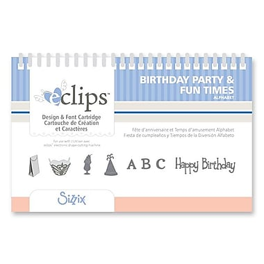 Sizzix® eclips Cartridge, Birthday Party & Fun Times Alphabet