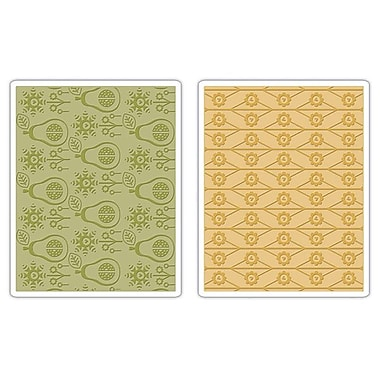 Sizzix® Textured Impressions Embossing Folder, Flowers & Pears Set