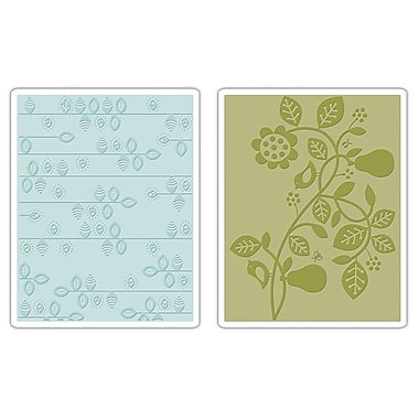 Sizzix® Textured Impressions Embossing Folder, Pear & Vines Set
