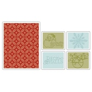 Sizzix® Textured Impressions Embossing Folder, Santa Baby Set