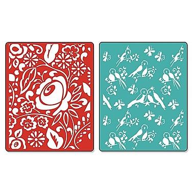 Sizzix® Textured Impressions Embossing Folder, Birds & Blooms Set