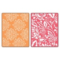 Sizzix® Textured Impressions Embossing Folder, Curly Gate & Berry Splash Set