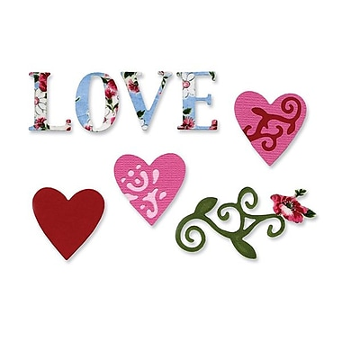 Sizzix® Sizzlits Die Set, Love Set #3