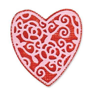Sizzix® Embosslits Die, Heart, English Rose