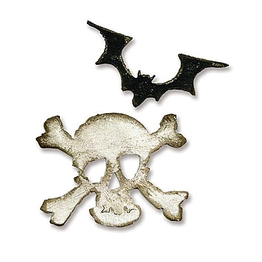 Sizzix® Movers & Shapers Magnetic Die Set, Mini Bat & Skull Set