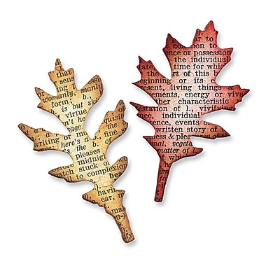 Sizzix® Movers & Shapers Magnetic Die Set, Mini Tattered Leaves Set