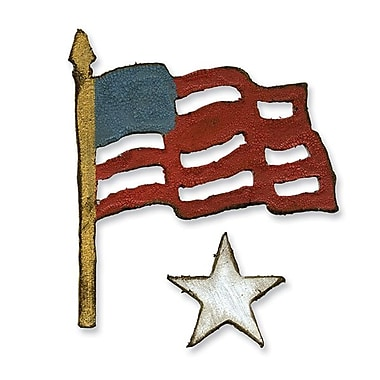 Sizzix® Movers & Shapers Magnetic Die Set, Mini Old Glory Set