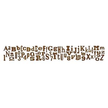 Sizzix® Sizzlits Decorative Strip Alphabet Die, Alphabetical