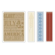 Sizzix® Texture Fades Embossing Folder, Americana Background and Borders Set