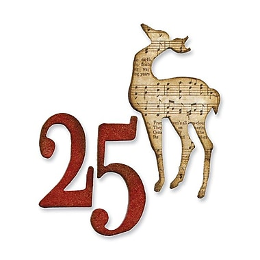 Sizzix® Movers & Shapers Movers & Shapers Magnetic Die Set, Mini Reindeer & 25 Set