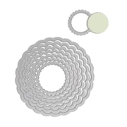 Sizzix® Framelits Die Set, Circle, Scallop