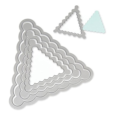 Sizzix® Framelits Die Set, Pennant Scallop
