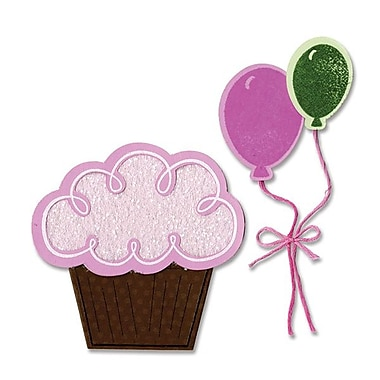 Sizzix® Framelits Die Set With Stamps, Balloons & Cupcakes