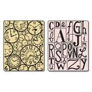 Sizzix® Textured Impressions Embossing Folder, Clocks and Print Blocks Set