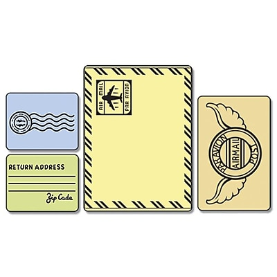 Sizzix Textured Impressions Embossing Folder, Mail Set 224409