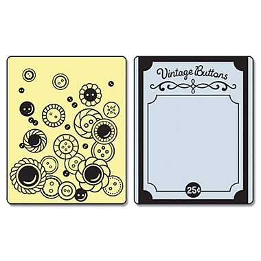 Sizzix® Textured Impressions Embossing Folder, Vintage Buttons Set
