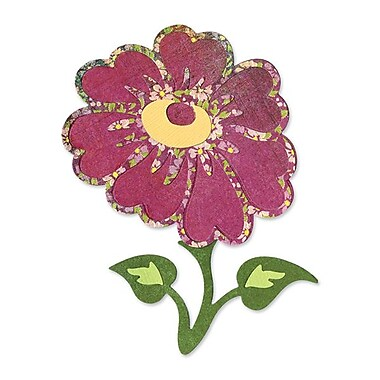 Sizzix® Sizzlits Die, Flower With Stem & Leaves #4