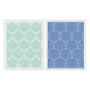 Sizzix® Textured Impressions Embossing Folder, Classical Beauty and Baroque Wallpaper Set