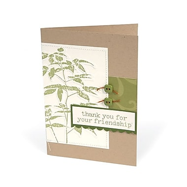 Sizzix® Textured Impressions Embossing Folder With Stamp, Artistic Fern Set