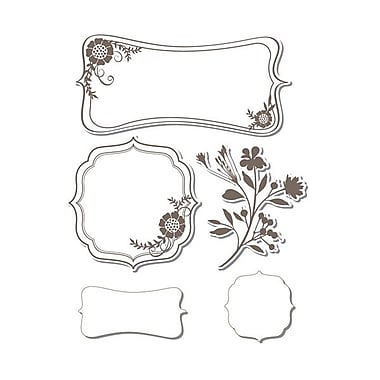 Sizzix® Framelits Die Set With Stamps, Frames With Sprigs