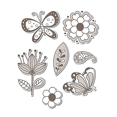 Sizzix® Framelits Die Set With Stamps, Flowers & Butterflies