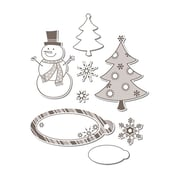 Sizzix® Framelits Die Set With Stamps, Snowman