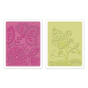 Sizzix® Textured Impressions Embossing Folder, Groovy Flowers Set