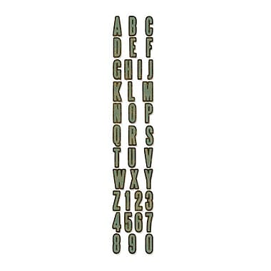 Sizzix® Sizzlits Decorative Strip Alphabet Die, Inside Out